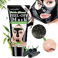 Black Mask,Maschere Viso,Maschera Nera,Rimuovere Punti Neri, Blackhead Remover Maschera Purificante peel-off Mask con...