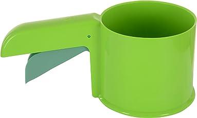 KONVEX Plastic Flour Sifter, 13 cm x 7 cm x 14 cm, Green