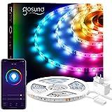 Gosund 5M Tira de LED Alexa WiFi, Luces Led Rgb Inteligente Control Remoto por App, Compatible con Alexa y Google Home, Sincr