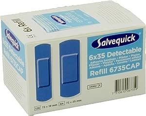 Salvequick Pflasterspender Und Refill Verschiedene Sorten Karton á 6 Refills Hellblau Detectable Ref 6735 Drogerie Körperpflege