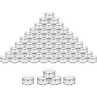 50 Pièces Contenant Cosmétique 5g/5ml Contenant Cosmétique Vide Plastique Transparente Petite Pots,Empty Plastique Jars…