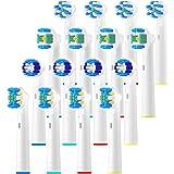 REDTRON 16 stuks opzetborstels voor Oral B-wit, opzetborstels voor elektrische tandenborstels, Family Pack opzetborstels voor
