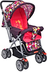 Little Pumpkin Baby Stroller - Pram (Pink)
