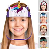 Smart line Adjustable Face Shield Anti-Fog Anti-Droplets with Full Face Protective Shield For Kids, Unicorn