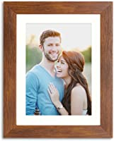 Painting Mantra Synthetic Brown Wall/Table Photo Frame (Picture Size 6 inches X 8 inches, Matted to 4 x 6 inches)