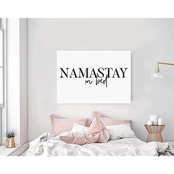 Seleprint Namastay In Bed Wall Art Namaste In Bed Print Bedroom