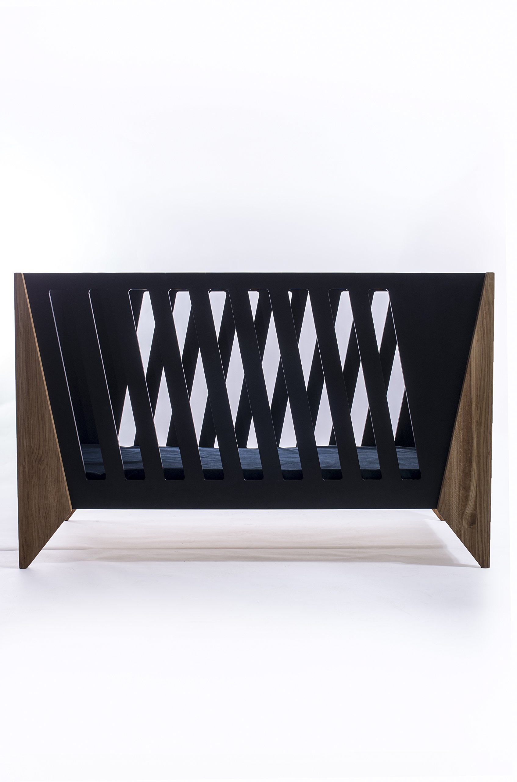 Nursery Cot (Black)  Made from high quality materials Mattress included Unique Scandinavian design 6