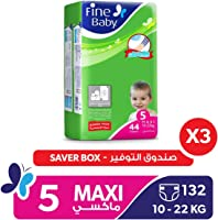 Fine Baby Diapers Mother's Touch Lotion, Maxi 10-22 Kgs, Jumbo Pack, 132 Count