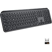 Logitech MX Keys Kabellose Tastatur, Bluetooth & USB-Empfänger, USB-C Anschluss, 5-Monate Akkulaufzeit, Easy-Switch…