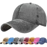 UMIPUBO Unisex Vintage Baseball Cap Adjustable Baseball Cap Outdoor Sports Solid Hats