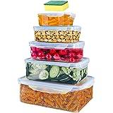 Lot de 5 boîte de Conservation Alimentaire,Conteneur Alimentaire Plastique avec Couvercles Hermétiques,Conteneur de Conservat