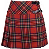 The Scotland Kilt Company Donna Tartan Tradizionale Scozzese Highland Mini Billie Kilt Mod Gonna - Royal Stewart