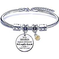 Regalo per la Festa della Mamma,Bracciale Mamma Braccialetto Mamma Bracciali Mamma,Regalo di Compleanno per Mamma Madre…