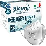 20 Mascherine FFP2 Certificate CE Italia Adulti BFE ≥99% Made in Italy. Mascherina ffp2 SANIFICATA e sigillata singolarmente.