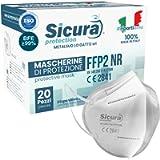 20 Mascherine FFP2 Certificate CE Italia Adulti BFE ≥99% Made in Italy. Mascherina ffp2 SANIFICATA e sigillata…