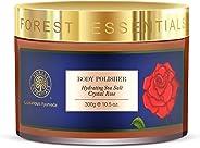 Forest Essentials Hydrating Sea Salt Crystal Rose Body Polisher, 300g