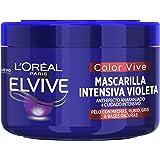 L'Oreal Paris Elvive Color Vive Mascarilla Intensiva Violeta Matizadora, Para Pelo con Bases Oscuras, Mechas o Decolorado, 25
