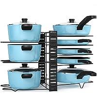 Porte casserole, Liesun 8 Tiers Pot and Pan Rack Organizer Holder, rangement poele, range couvercle, porte casserole…