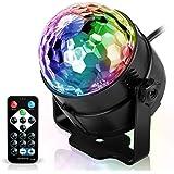 Spriak Discokugel Discolicht Partylicht Disco Licht Lichteffekte 7 Farbe Musikgesteuert LED DJ Licht Partybeleuchtung Party L