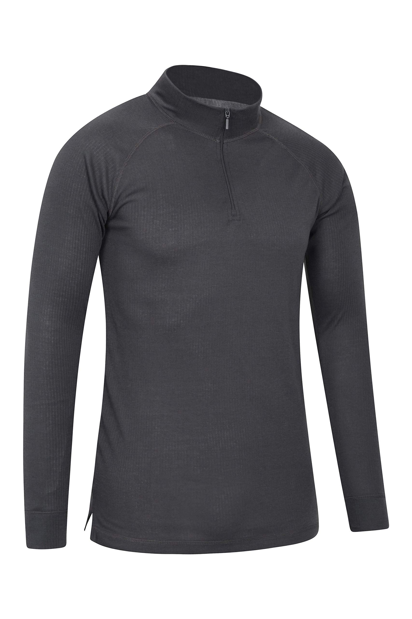 Mountain Warehouse Talus Mens Thermal Baselayer Top - Long Sleeve Sweater, Zip Neck, Quick Drying Pullover, Breathable, Lightweight - Great for Winter, Travelling 2