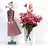 Florero Vidrio Cristal con Corazones Decoración del Hogar Jarrones Flores Plantas Diseño Creativo San Valentín 19 cm Altura Ø