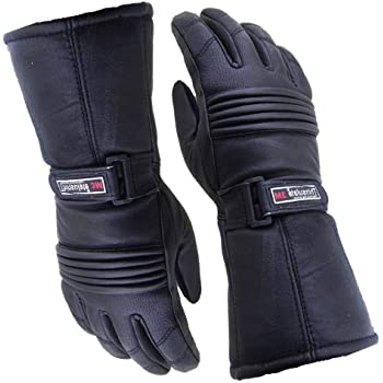520b225e99b0e6 Mens Leather Winter Thermal LABELLED Waterproof Inserts Thinsulate  Motorcycle Gloves Small S