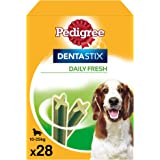 Pedigree Pack de Dentastix Fresh de uso Diario para la Limpieza Dental y Contra el Mal Aliento de Perros Medianos (4 Packs de