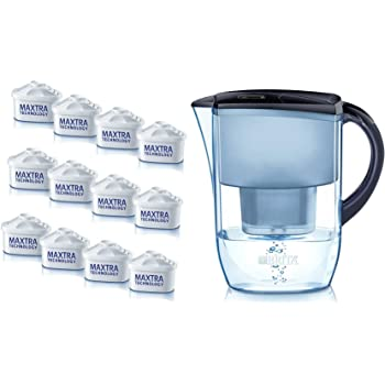 BRITA Wasserfilter Jahrespaket Fjord Cool mitternachtsblau