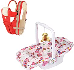 !!! Dash Launching Combo Offer !!! Multifunctional Baby Carrier (Pink) and Baby Carry Cot-7 in 1