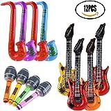 SMUER Inflables Guitarra Saxofón Micrófono Globos Instrumentos Musicales Accesorios para Fiesta Suministros Favores de Fiesta