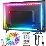 TV LED Strip, TOPYIYI 3M LED TV-achtergrondverlichting, USB LED TV Lights met Afstandsbediening, 5050 RGBW Multi-Gekleurde LE