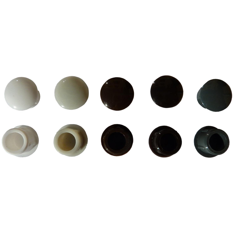 Hervorragend 25 Flache Abdeckkappen für 10mm Bohrlöcher für Rollladen  AY18