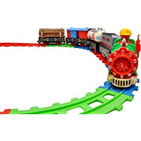 Toyshine Vintage Train with Big Track, Battery Operated with Flashlight-2