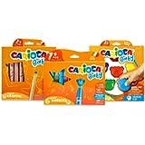 Carioca Set Baby 1+   Set Colori con Pennarelli Super Lavabili, Pastelli a Cera Colorati e Matitoni per Bambini dai 12…
