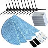 NTNT Brosse latérale neuf Filtre HEPA Chiffon Velcro pour CHUWI Ilife Ilife 5 Mop V5S V3 V3 + V5 V5 Pro X5 Ilife v5pro Aspirateur Pièces