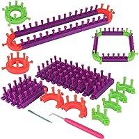 Coopay Kit de Tricot,Kits de Métier à Tisser en Plastique Flexibles Réglable avec Crochets de Tricot,Comprend Un Métier…