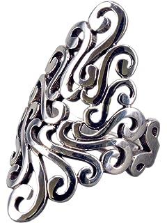 bis 60 19.1 15.6 Unendlich U Wundersh/ön Damen Ring 925 Sterling Silber Herz Bandring Verstellbare Gr/ö/ße von 49