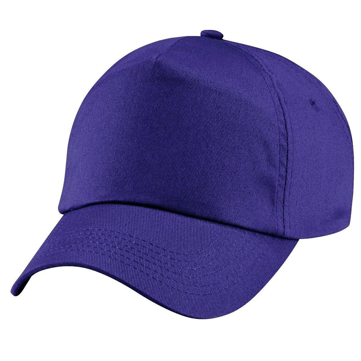 Beechfield - Cappellino Tinta Unita 100% Cotone - Bambino (Taglia unica) (Viola)