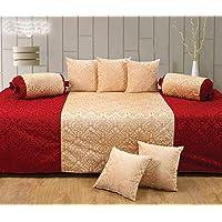 Handtex Home Velvet 220 TC Diwan Set (Single_Multicolour)
