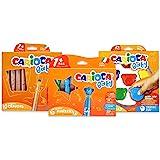 Carioca Set Baby 1+ | Set Colores con Rotuladores Super Lavables, Ceras con Forma de Osito y Maxi Lápices para Bebés a Partir