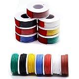 20awg 0,52 mm² silikon elektrisk kabelkabel 7 färger (7 meter/20 m vardera) 20 mätare kroktrådar elektronikkit strängad konse