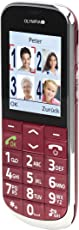 OLYMPIA 2168 Komfort-Mobiltelefon mit Großtasten/großem Farb-LC-Display Modell Joy rot