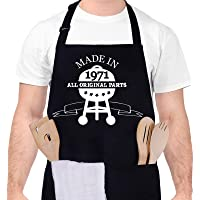 Gaosaili 50th Birthday Apron for Men Women, Funny BBQ Cooking Apron with Pocket Adjustable Kitchen Baking Apron Cotton…