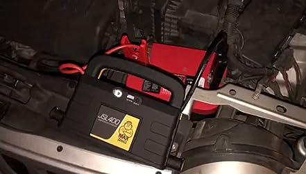 MAXTOOLS JSL400, Arrancador y Batería de Emergencia para Turismos y Furgonetas, 800A 18.000mAh, para Motores de 12V de Gasolina y Gasóleo, Jump Starter, Booster, con Linterna LED y Puerto USB: Amazon.es: Coche