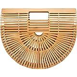 Tubayia Sommer Strand Stil Damen Bambus Handtasche Strandtasche Einkaufstasche Tasche Geschenk
