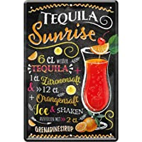 Tequila Sunrise Cocktail Ricetta Tequila succo di limone, succo di arancia, sciroppo di grenadinensirup Ice 20 x 30 cm…