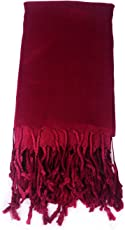 Womens Large Soft Scarf Solid Winter Pashmina Cashmere Feel Shawl Wraps for Women Girls