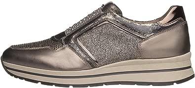 Nero Giardini A806413D Sneakers Donna in Pelle, Camoscio E Tela