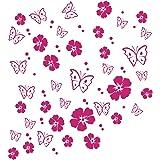 Kleb Drauf 25 Pfoten Pink Matt Autoaufkleber Autosticker Decal Aufkleber Sticker Auto Car Motorrad Fahrrad Roller Bike Deko Tuning Stickerbomb Styling Wrapping Auto
