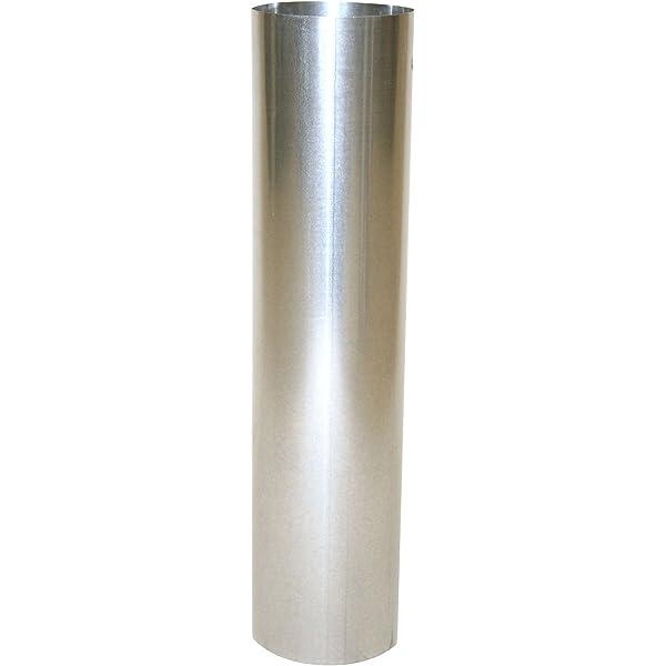 Kamino-Flam 331205 Tuyau de Po/êle Coude 90/° en Acier Alumin/é /à Chaud Test/é EN-1856-2 /Ø 130 mm Argent/é